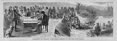 Indians Receiving Annuitities At Odanah On Indian Reservation Frontier Station