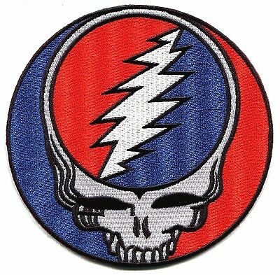"""GRATEFUL DEAD classic steal your face 5"""" IRON-ON PATCH **Free Shipping** p1217"""