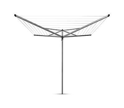 Brabantia 50M Compact Rotary Washing Line Airer 4 Arm With Plastic Ground Tube