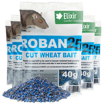 Roban25 Cut Wheat Mouse & Rat Poison | Strongest Available Online | 2 x 40g