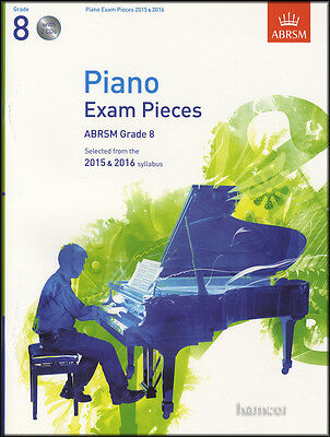 ABRSM Piano Exam Pieces 2015-2016 Grade 8 Sheet Music Book/2CDs