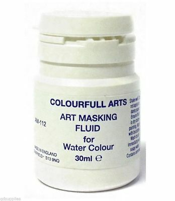 1 X 30Ml Artist Masking Fluid For Watercolour Paints Painting Canvas Paper Am112