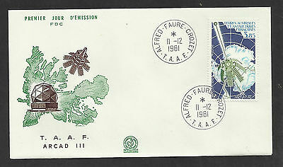 Taaf French Antarctic 1981 Arcad Iii Satellite 1V Fdc