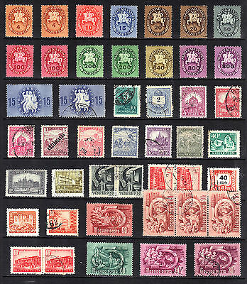 HUNGARY STAMP COLLECTION Early Mint Used REF:D349