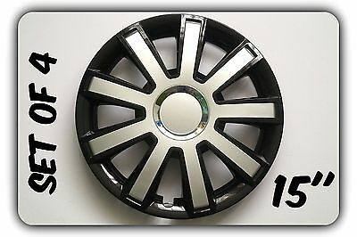 """Set Of 4 15"""" Wheel Trims To Fit Vw Golf V, Golf Vi, Polo + Free Gift #10"""