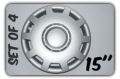 """Set Of 4 15"""" Wheel Trims To Fit Vw Golf V, Golf Vi, Polo + Free Gift #6"""
