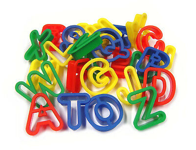 26 Plastic Play Dough Cookie Cutters Upper Case Capital Letters A-Z Mb 9001-26