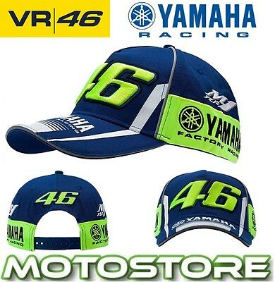 Vr46 Valentino Rossi Yamaha Factory Racing Cap Official Sponsor Hat Blue 2017