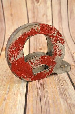 Fantastic Vintage Style Red 3D Metal Shop Sign Letter Q Advertising Font