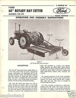 Farm Manual - Ford - 22-111 - Rotary Hay Cutter - Operating Assembly (FM190)