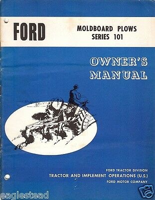 Farm Manual - Ford - 101 series - Moldboard Plow - Owner's (FM191)