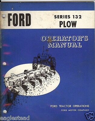 Farm Manual - Ford - 132 - Semi-Mounted Plow - Operator's (FM199)