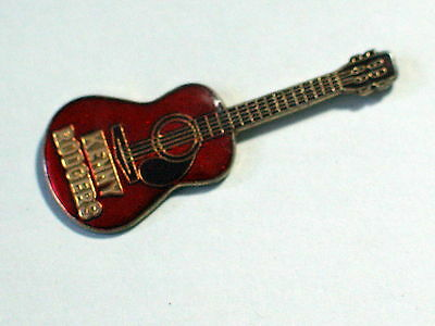 Vintage Kenny Rodgers Guitar Red  Enamel Pin