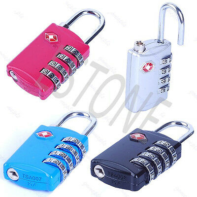 New TSA309 Combination Travel Suitcase Luggage Padlock Lock 4 Colors For Chioce