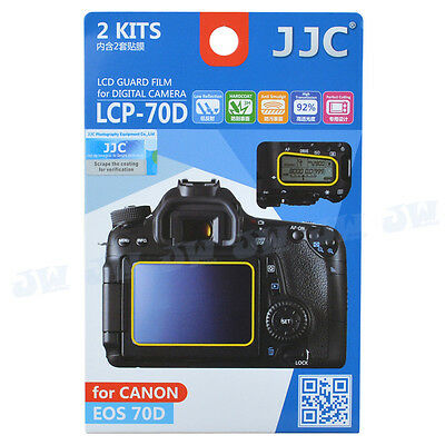 JJC 2kits LCD Guard Film Camera Screen Display Protector Cover for Canon 70D 80D