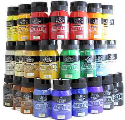 ROYAL LANGNICKEL 500ml ESSENTIALS ACRYLIC PAINT TUBS JARS 27 COLOURS AVAILABLE