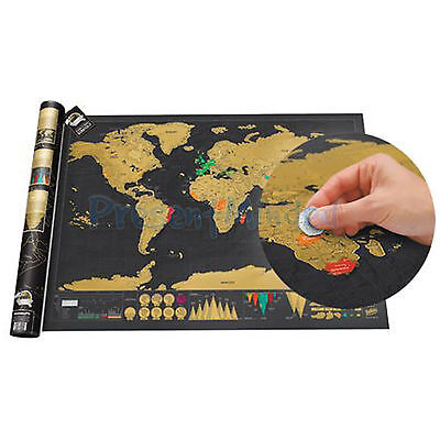 ORIGINAL DELUXE TRAVEL MINI Scratch Map From Luckies Personalised World Map Gift