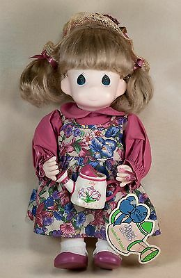 Precious Moments 12 Inch March Lily Garden of Friends Girl Doll With Tag #1427