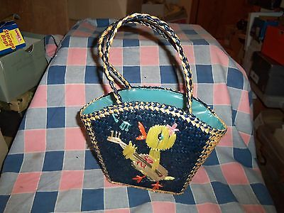 Cute Easter Bag Purse Woven Lined Inside  10 1/2 Inch High at Handles