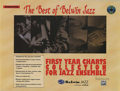 The Best of Belwin Jazz Conductor Score Music Book/CD First Year Jazz Ensemble