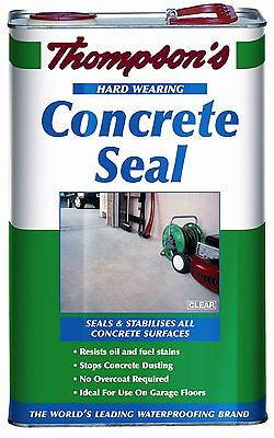 Ronseal Thompsons Clear Concrete Stone Brick Seal Garage Floor - 5 Litres