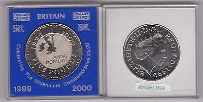 Cased 1999 Uncirculated £5 Millennium Crown In Near Mint Condition