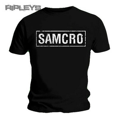 Official T Shirt SONS OF ANARCHY Black SAMCRO TEXT Logo All Sizes