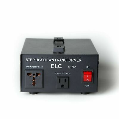 1000 Watt Voltage Converter Transformer Heavy Duty Step Up/Down 1000W 110-220V