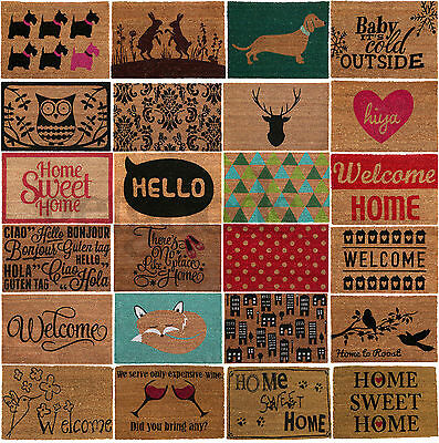 Natural Large Non Slip Welcome Floor Entrance Door Mats Indoor Outdoor Doormats