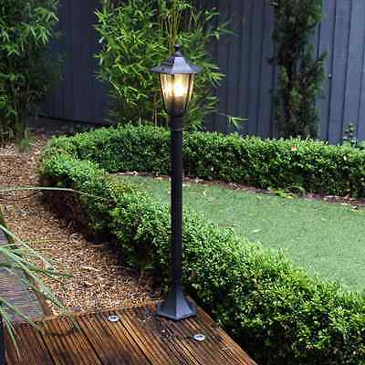 1.1M Victorian Lamp Post Lampost Patio Light Pond Feature Garden Lighting Out3