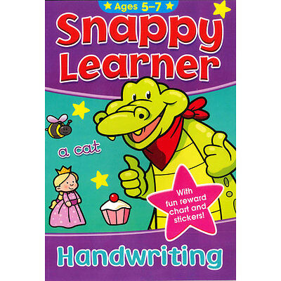 Snappy Learner Handwriting Book & Reward Chart Age 5-7 Educational Writing Guide