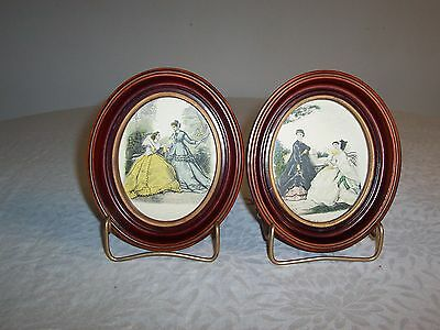 2 Vintage 3d Lady Cameo Framed Pictures Wall Accessory