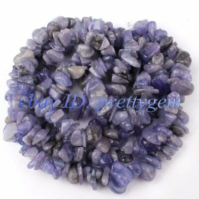 5-8mm Natural Freeform Blue Kyanite Chips Gemstone Beads Spacer Loose Strand 34""