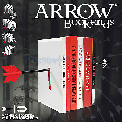 Arrow Shaped Novelty Magnetic Bookends Book End Gift