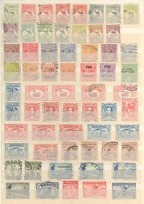 Australia Lot Of Mint Hinged, Never Hinged And Used Fantastic Clean Stamps