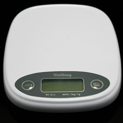 7kg/1g LCD Digital Kitchen Food Diet Postal Balance Weight Scale G/OZ/ LB New FS