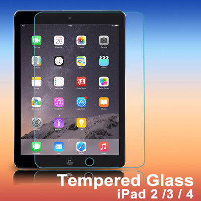 Tough Scratch Resistant Tempered Glass Screen Protector for Apple New iPad 4/3/2