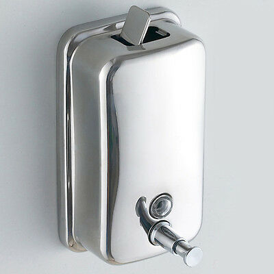 500/800/1000ml Stainless Steel Soap Dispenser Lotion Pump Action Wall Mounted