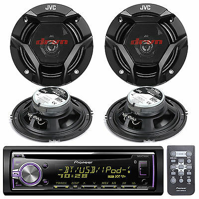 New DEH-X6700BT Car In Dash CD MP3 USB AUX Stereo W/Bluetooth 4 2-WAY Speakers