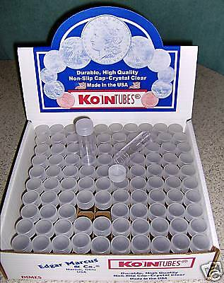 100 KOIN Dime Coin Tubes BRAND NEW Mercury storage 10c