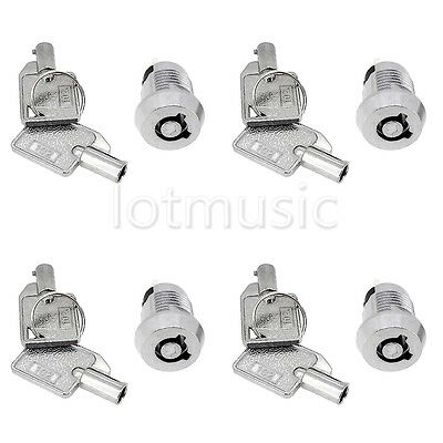 4pcs Chrome Plated ON /OFF Lock Switch Two Keys Mini Key Switch Ignition