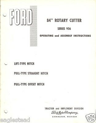 Farm Manual - Ford - 906 - 84 inch Rotary Cutter - Operating Assembly (FM232)