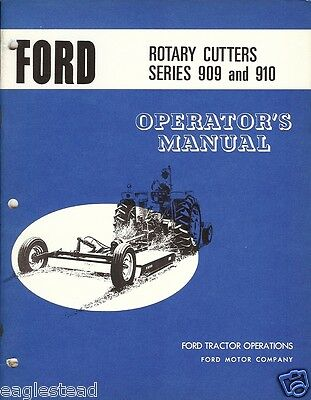 Farm Manual - Ford - 909 910 - Rotary Cutters - Operator's (FM234)