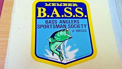 Bass Anglers Sportsman Society Of America, Member, Sticker, 4-1/2 X 3-5/8""