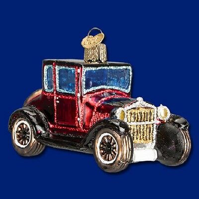 """""""Model T Coupe"""" (46047) Old World Christmas Glass Ornament"""