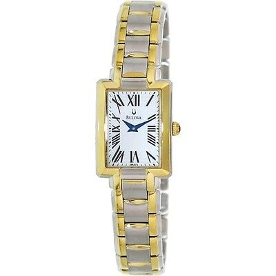 Bulova 98L157 Mother of Pearl Dial Two-Tone Stainless Steel Women's Watch