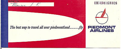 Airline Ticket - Piedmont - 1 Flight - 1974 (T285)