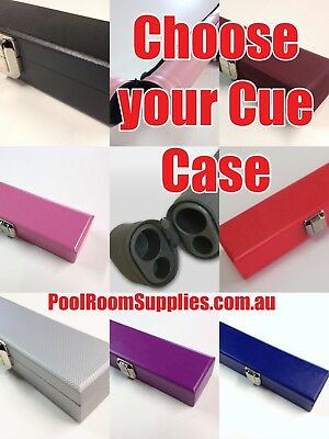 Choose your Snooker Pool Billiard Cue Case Black, Pink, Blue, Purple, Silver etc