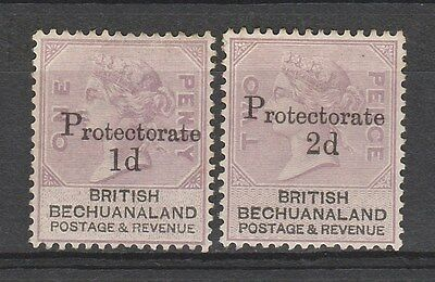 Bechuanaland 1888 Protectorate 1D And 2D No Gum