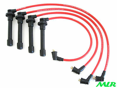 Red 8Mm Silicone Ignition Ht Leads Wires Honda Civic Coupe Crx 16V Vtec Mlr.bm
